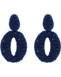 Oscar de la Renta O C Earrings - Lyst