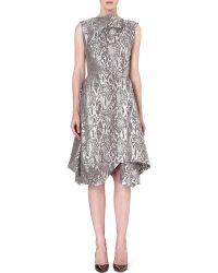 Vivienne Westwood Anglomania Aztek Metallic Draped Dress - Lyst