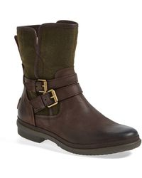 Ugg 'Simmens' Waterproof Leather Boot brown - Lyst