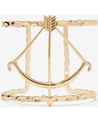 Nasty Gal Get To Bow Me Metallic Cuff gold - Lyst