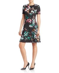 Marc New York - Sleeveless Printed Sheath Dress - Lyst