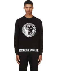 Versus  Embroidered Logo Sweatshirt - Lyst