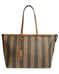 Fendi Women'S 'Pequin' Roll Tote - Brown - Lyst