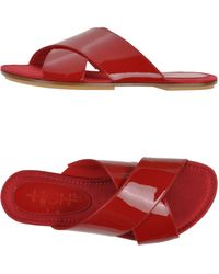 High Sandals red - Lyst