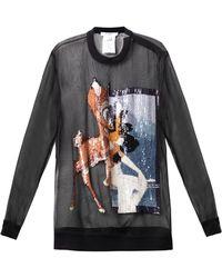 Givenchy Sequin Embellished Bambi Silk Sweatshirt - Lyst