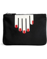 Lulu Guinness Hands Clutch Bag - Lyst