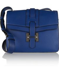 Halston Heritage Textured-leather Shoulder Bag - Lyst