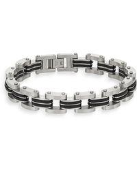 Jan Leslie - Silvertone Link Bracelet - Lyst