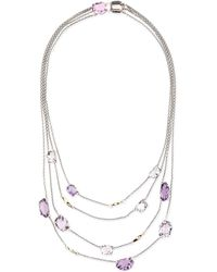 Alexis Bittar Fine - Four-Strand Amethyst & 14K Gold Station Necklace - Lyst