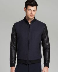 Theory Bolmanne Bomber Jacket Exclusive To Bloomingdales - Lyst