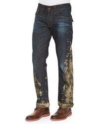 True Religion Ricky Mud Splash Jeans - Lyst