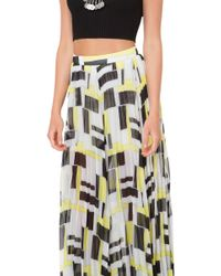 Akira Black Label - Expectations Yellow Multicolor Maxi Skirt - Lyst