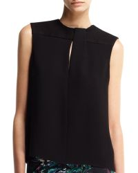 Balenciaga Sleeveless Foldneck Top - Lyst