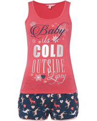 Lipsy - Baby It`s Cold Outside Top And Shorts Set - Lyst