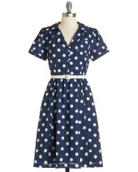 ModCloth Address The Room Dress blue - Lyst