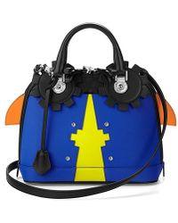 Aspinal - Hepburn Mini Bug Bag Amber Cobalt - Lyst