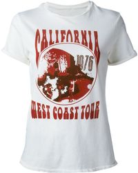 Current/Elliott - Rolled Sleeve Crewneck T-shirt - Lyst