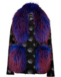 Matthew Williamson Jacket with Fur Shawl - Lyst