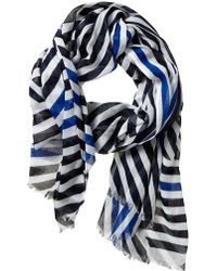 Banana Republic Tiffany Scarf Preppy Navy - Lyst