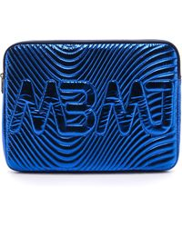 Marc By Marc Jacobs Quilted Metallic Computer Case - Scuba Blue - Lyst