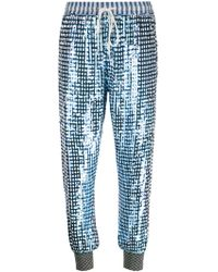 Ashish Sequined Cropped Trousers blue - Lyst