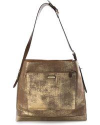 Ralph Lauren Purple Label Antique Effect Shoulder Bag - Lyst