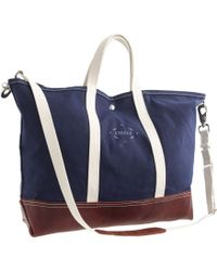 J.Crew Steele Canvas Basket Corp.™ Leather Tote - Lyst