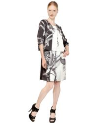 Gaowei+Xinzhan - Floral Print Short Sleeved Jacket - Lyst