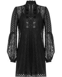 Anna Sui | Crochet Lace Tunic - Black | Lyst