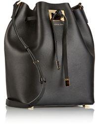 Michael Kors Miranda Large Leather Bucket Bag - Lyst