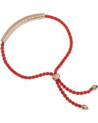 Monica Vinader - Red And Rose Gold Vermeil Esencia Friendship Bracelet - Lyst