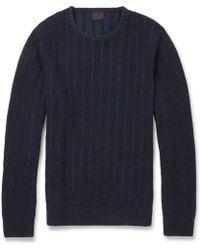 Mp Di Massimo Piombo Striped Texturedknit Woolblend Sweater - Lyst