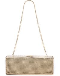 Whiting & Davis Rectangle Minaudiere Gold - Lyst