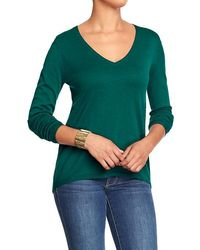 Old Navy Hilo Vneck Sweaters - Lyst