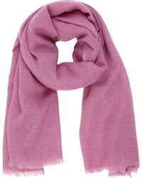 Barneys New York Purple Cashmere Scarf - Lyst