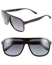 Gucci 59Mm Aviator Sunglasses - Lyst