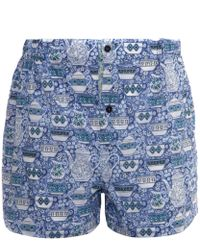 Liberty - Blue Cotton Boxer Shorts - Lyst