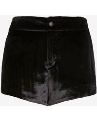 Rag & Bone Nesi Velvet Shorts - Lyst