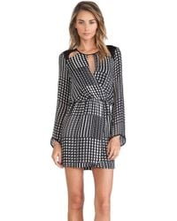 Parker Fisher Combo Dress - Lyst