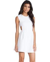 Chalk Neoprene Field Dress - Lyst
