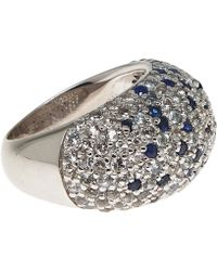 M.c.l - Silver And Blue Sapphire Pave Ring - Lyst