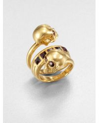 Alexander McQueen | Crystal-studded New Twin Ring | Lyst