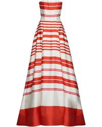 Alice + Olivia Aubrey Strapless Gown With Pockets - Lyst