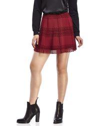 Jolt - Circle Laser-Cut Skirt - Lyst