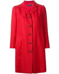 Dolce & Gabbana Single Breasted Coat - Lyst