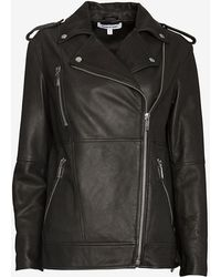 Elizabeth And James Renley Oversized Leather Jacket - Lyst