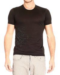 Roberto Cavalli T-shirt Short Sleeve Roundneck Print Rubberta - Lyst