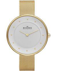 Skagen - Skw2141 Women's Gitte Refined Mesh Strap Watch - Lyst