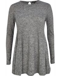 River Island Grey Marl Swing Dress - Lyst