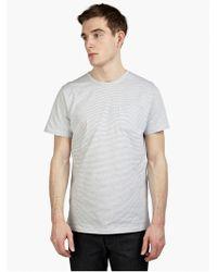 A.P.C. Men'S Striped 'Dude' T-Shirt gray - Lyst